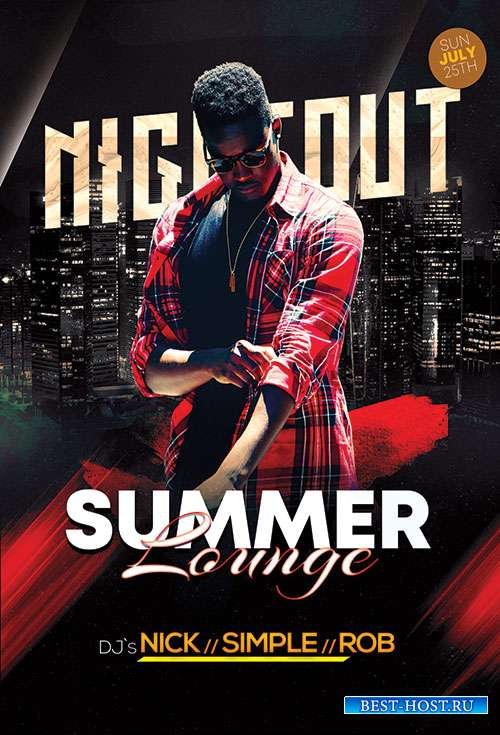 Summer Lounge Nightout - Premium flyer psd template