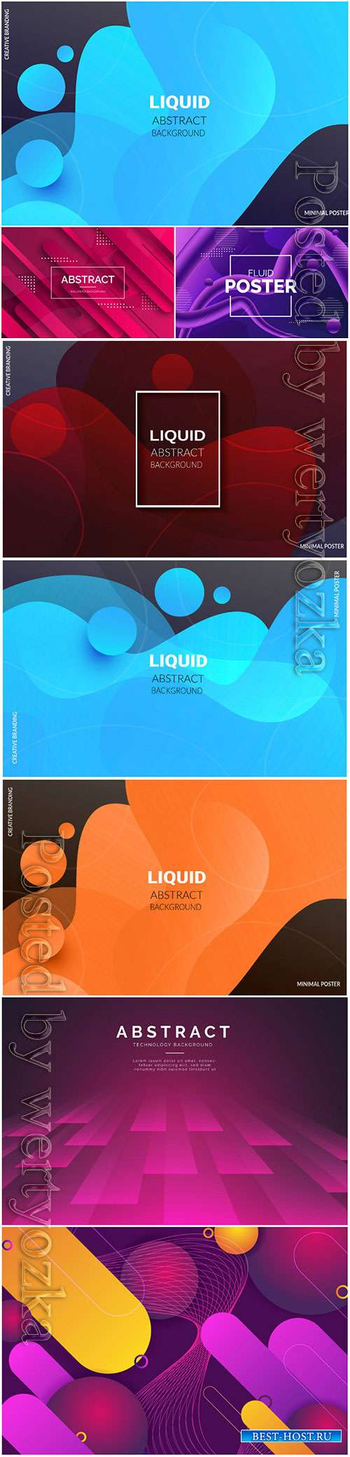 Liquid vector abstract background