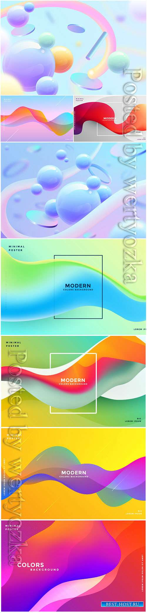 3d vector abstract background with colorful shapes