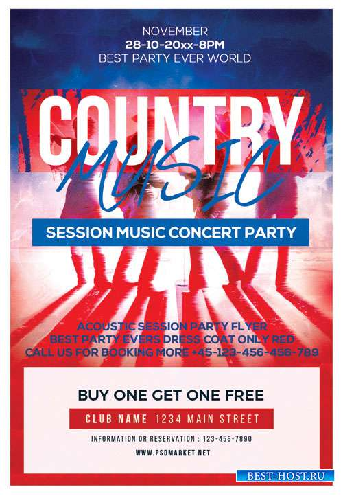 Country music - Premium flyer psd template