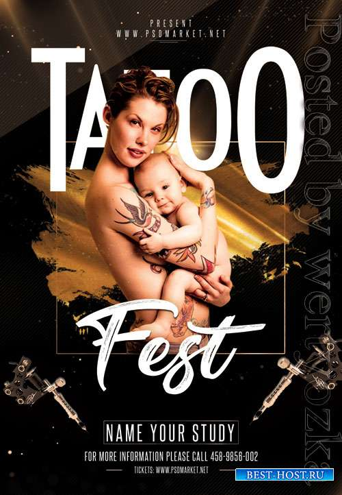 Tattoo fest - Premium flyer psd template