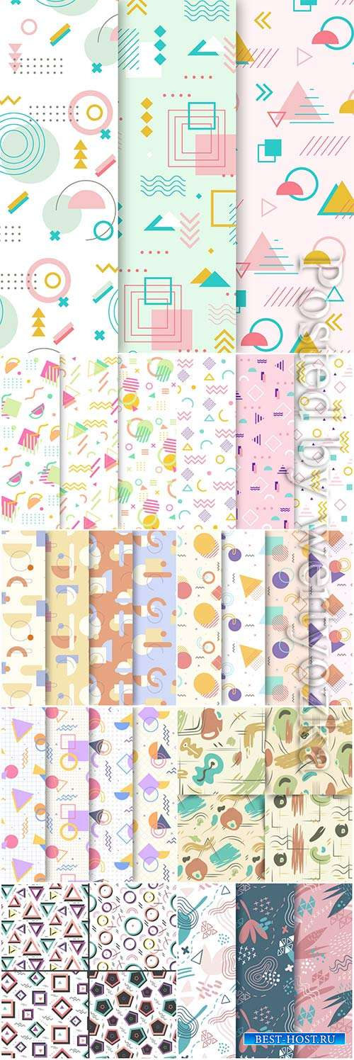 Memphis pattern vector collection