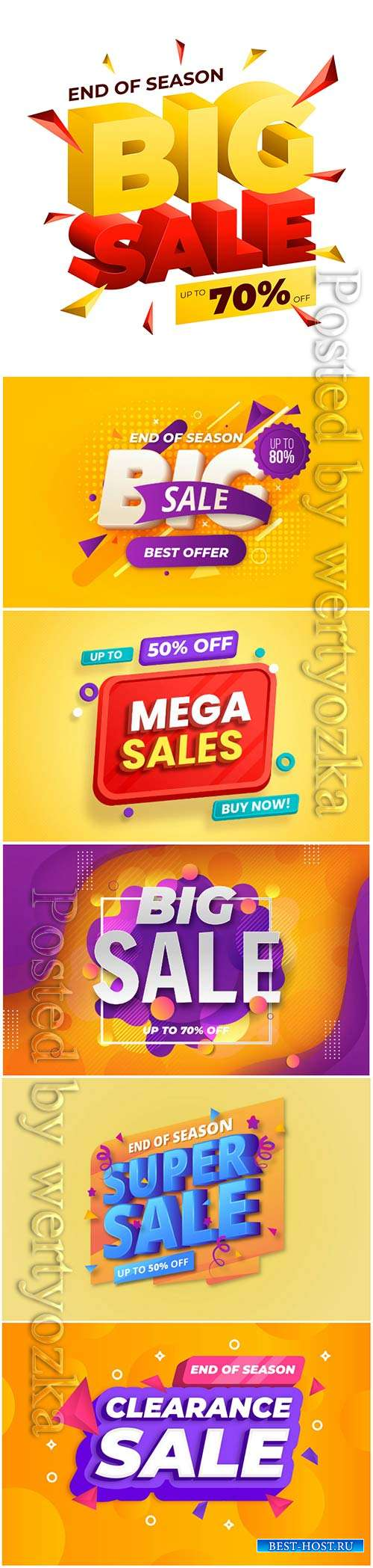 Colorful 3d sales vector background # 2