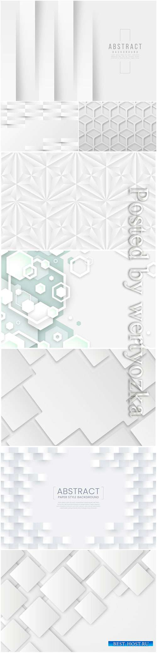 Abstract vector background, 3d models template # 9