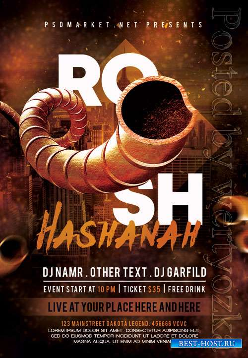 Rosh hashanah event - Premium flyer psd template