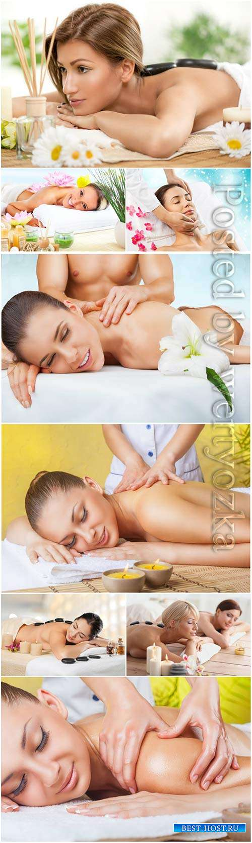 Girls in the spa salon, relax