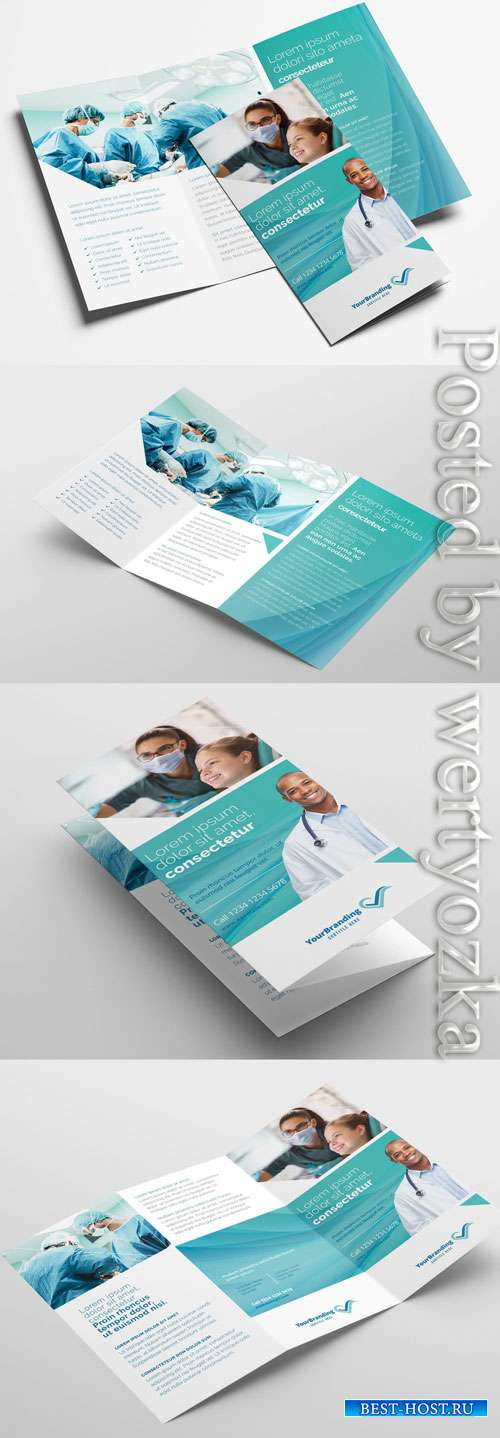 Medical Clinic Trifold Brochure Layout