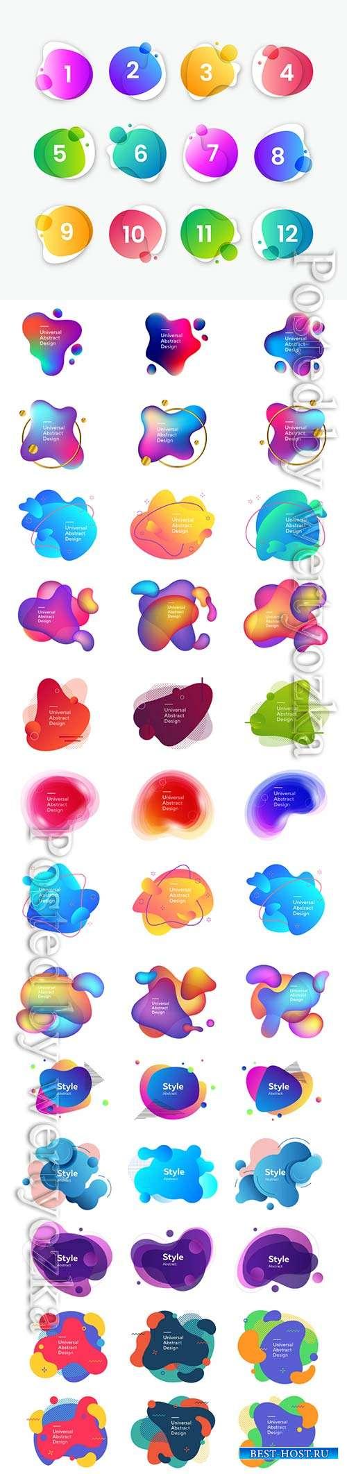 Abstract fluid modern vector elements