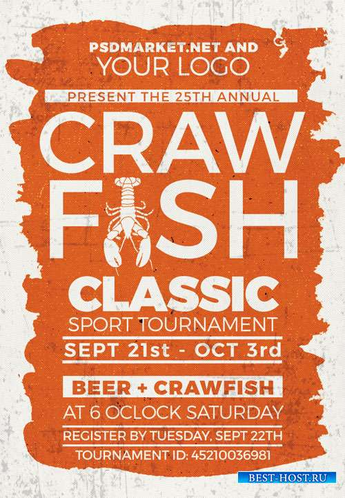 Crawfish classic - Premium flyer psd template