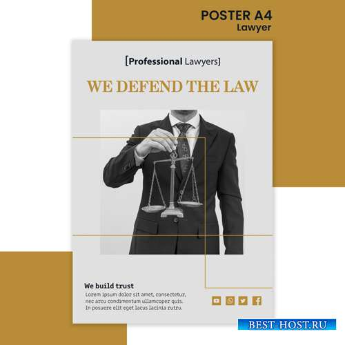 Law firm ad template poster2