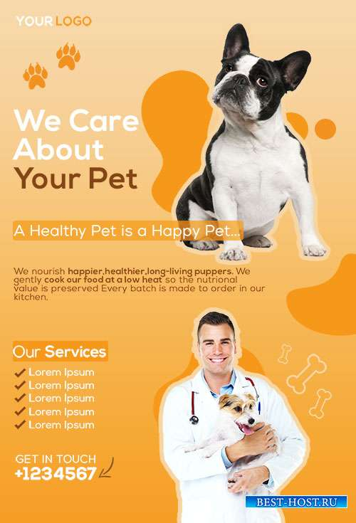 Veterinary - Premium flyer psd template