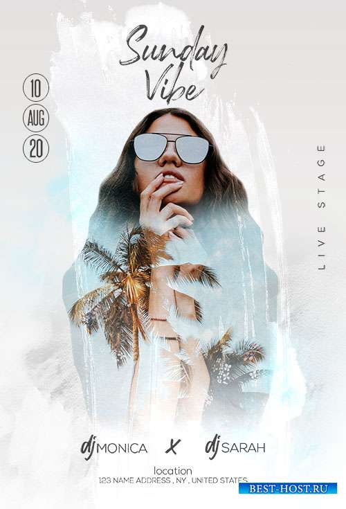 Sunday Vibe - Premium flyer psd template