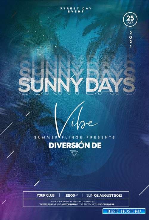 Sunny Days Event - Premium flyer psd template