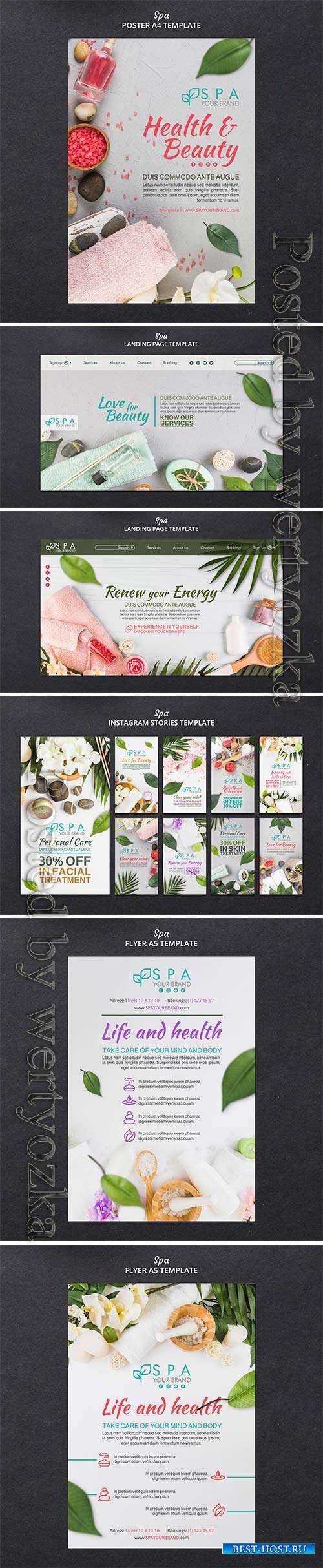 Spa concept flyer template