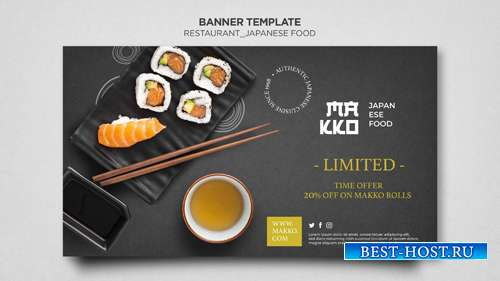 Make-up сollection of sushi templates for restaurant vol 9