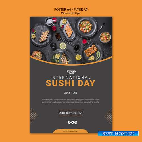 Make-up сollection of sushi templates for restaurant vol 5