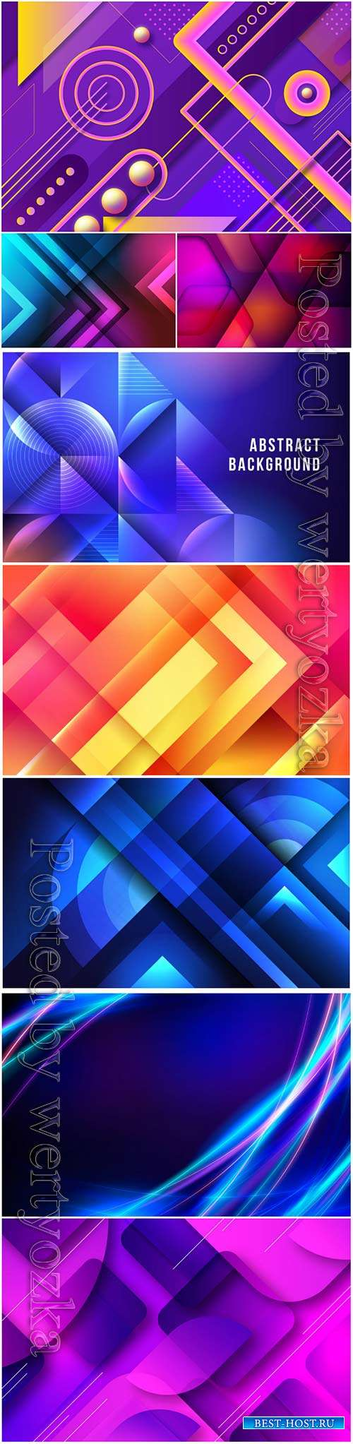 Overlapping blue forms background