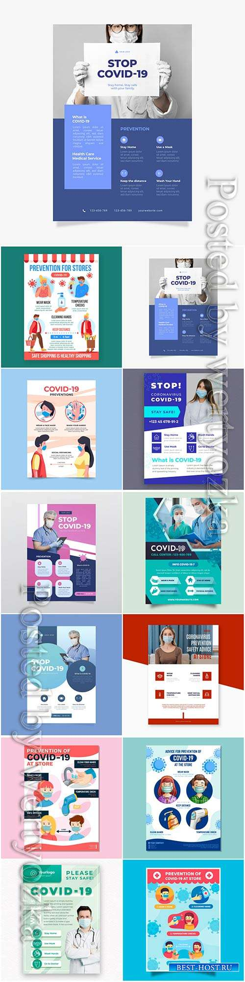 Realistic coronavirus vector background, stop covid-19 vol 5