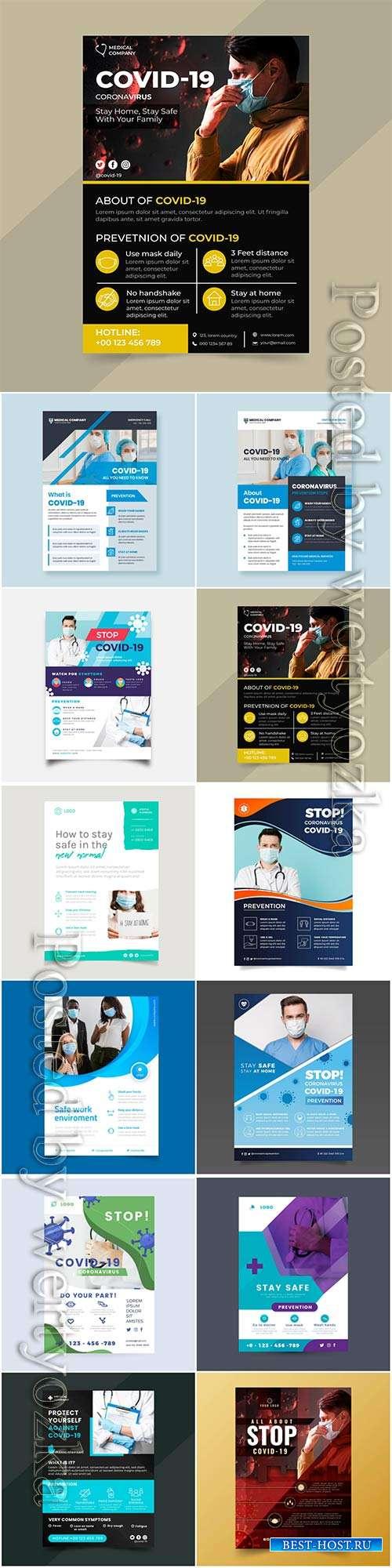 Realistic coronavirus vector background, stop covid-19 vol 4
