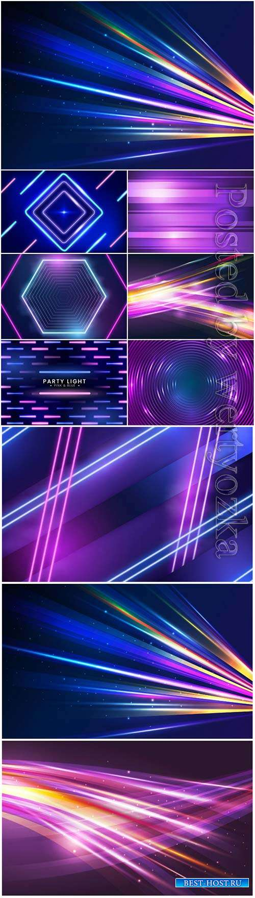 Neon abstract background in vector