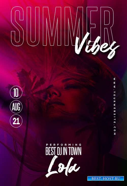 Best Summer Vibe  - Premium flyer psd template