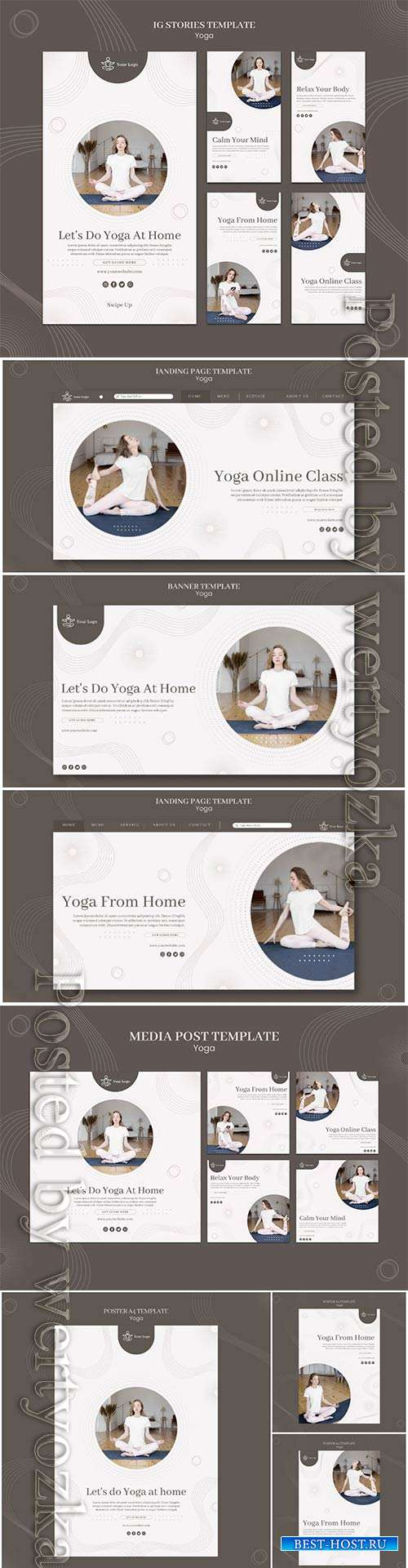 Yoga concept banner template