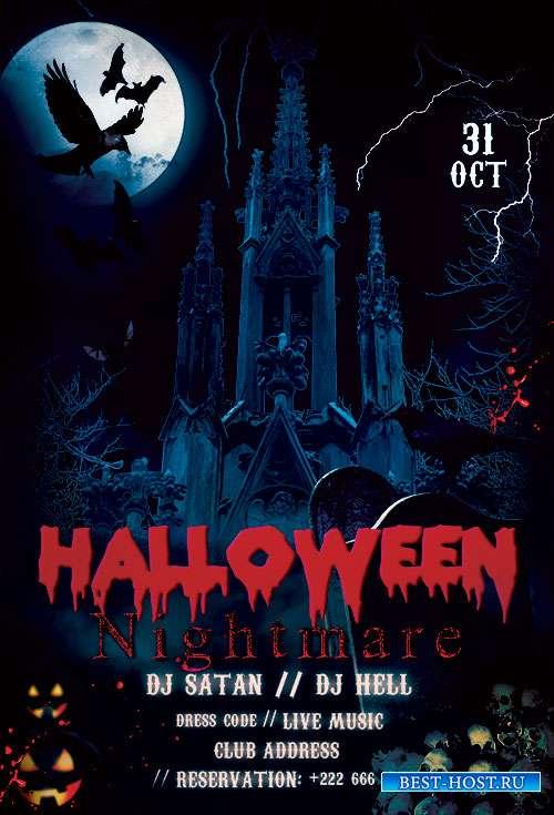 Halloween Nightmare - Premium flyer psd template