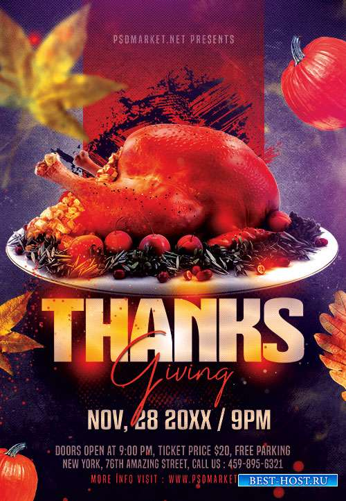 Thanks giving - Premium flyer psd template