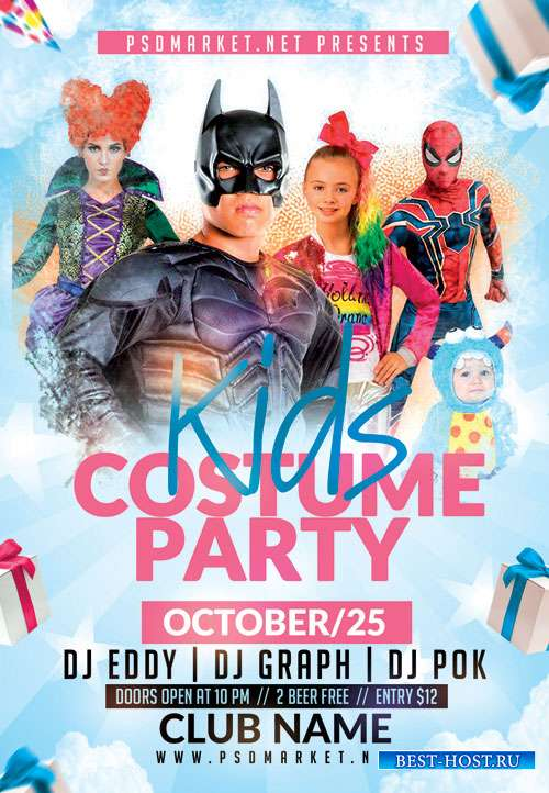 Kids costume party - Premium flyer psd template