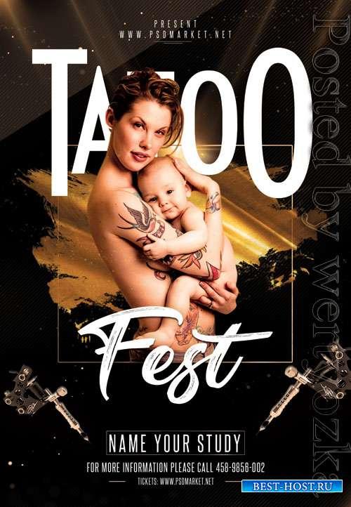 Tattoo fest - Premium flyer psd template
