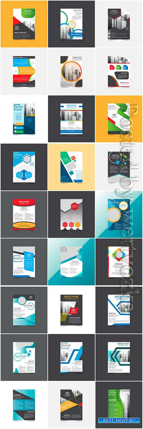 Brochures collection in vector, business name for company # 5