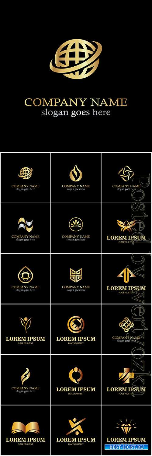 Logos collection in vector, business name for company # 10