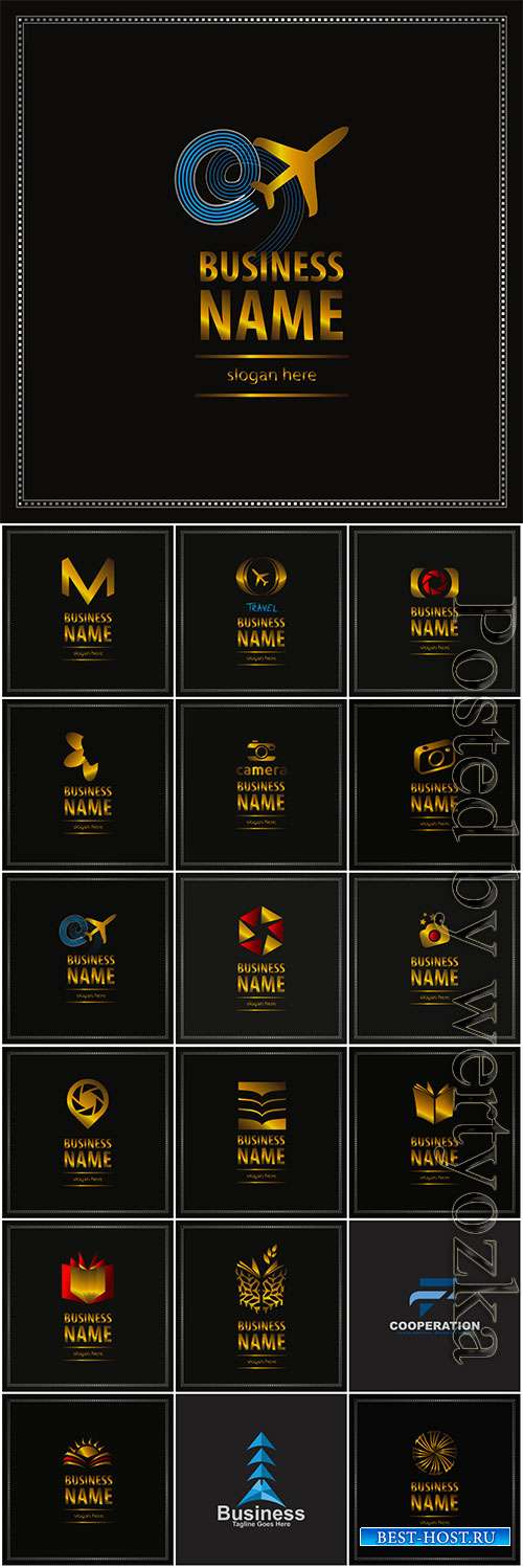 Logos collection in vector, business name for company # 9