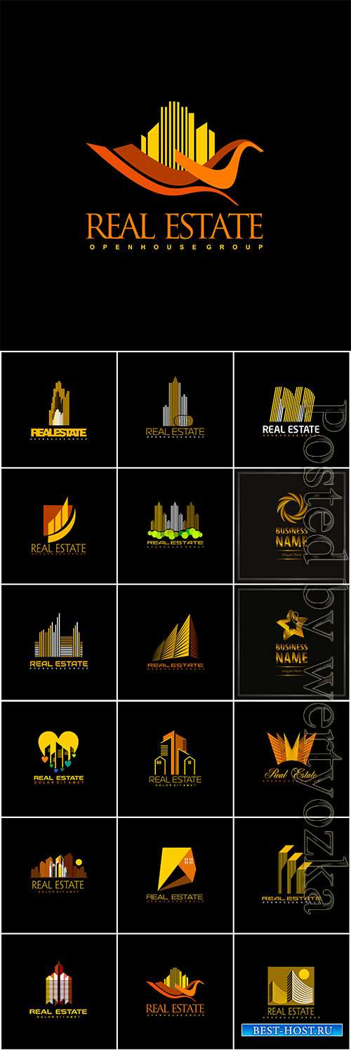 Logos collection in vector, business name for company # 8
