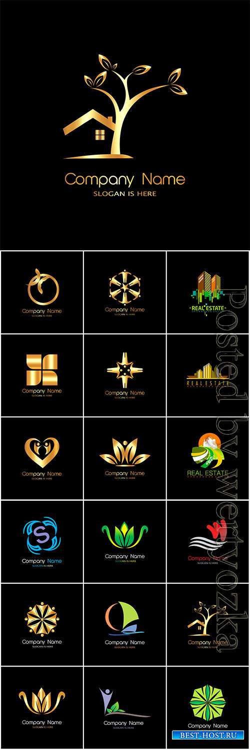 Logos collection in vector, business name for company # 7