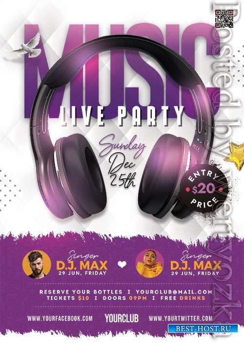 Live Music Event PSD Flyer Template