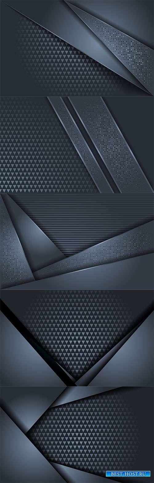 Синие со светлым блеском векторные фоны