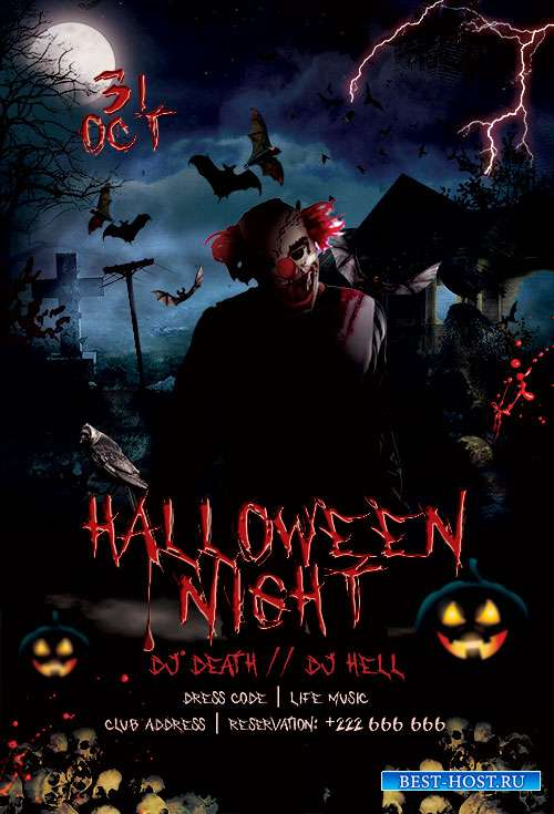 Halloween Night - Premium flyer psd template