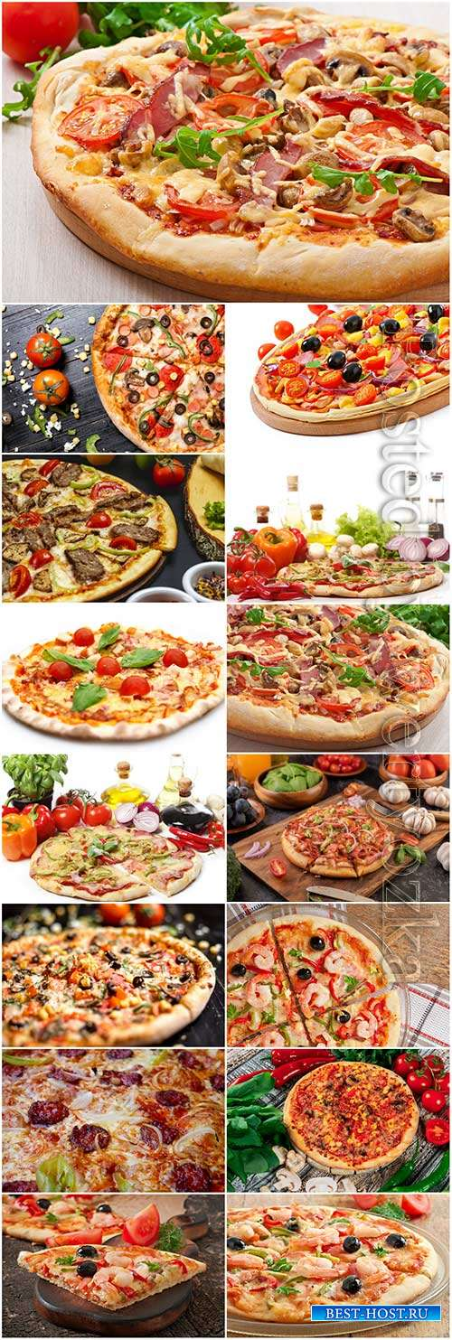 Mix pizza stock photo set