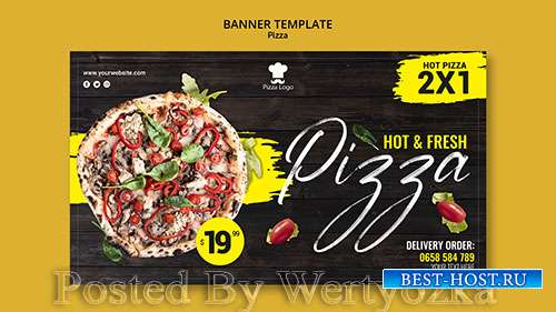 Pizza restaurant horizontal banner