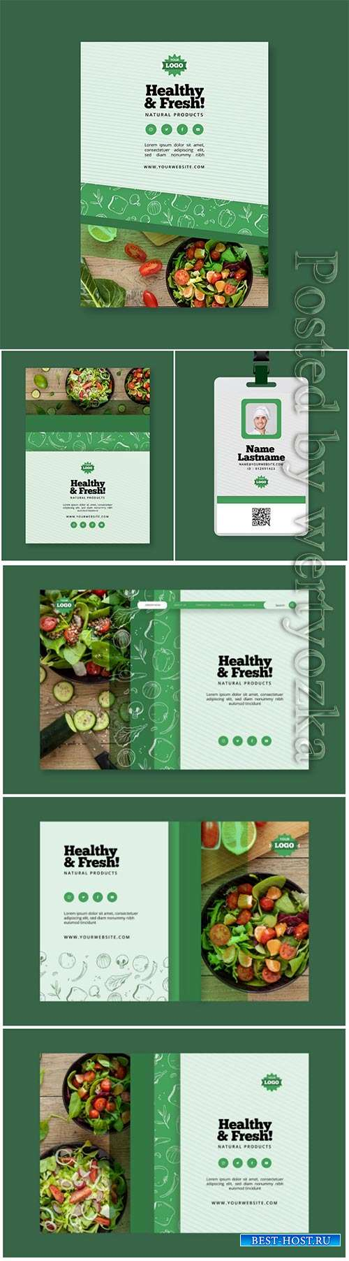 Bio and healthy food landing page template