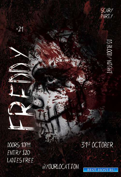 Scary Night Flyer PSD Template