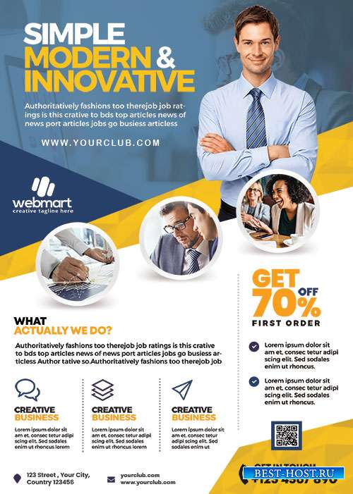 Business Promotion Flyer Template PSD