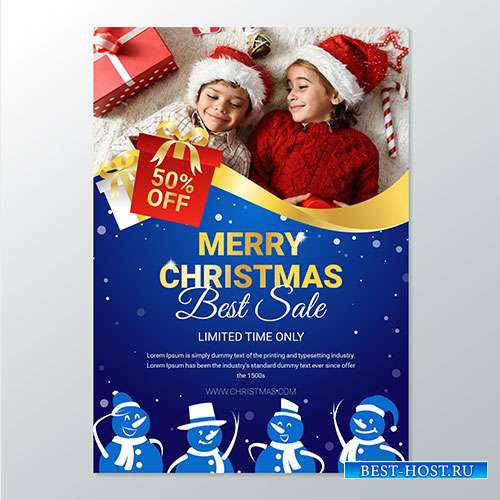 Christmas poster for sales with photo